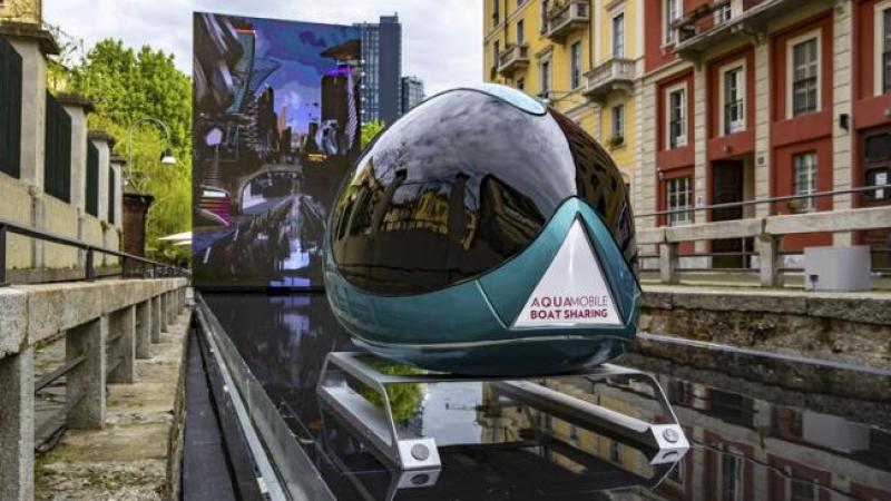 Aqua il salone del mobile 2019 omaggia leonardo con un for Il salone del mobile