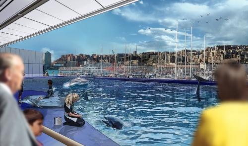 Acquario di genova: la nuova vasca dei delfini di renzo piano